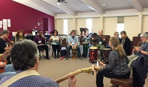 Mary Knysh Teaching at Adventures in Improvisation Workshop