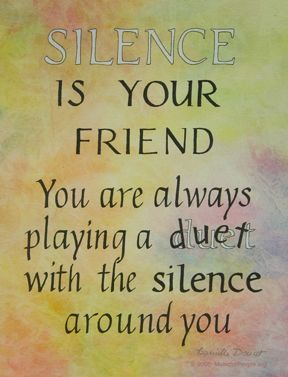 Silence Is Your Friend Poster