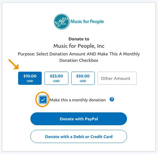 Sustaining Donation Options
